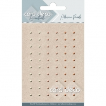 Card Deco Essentials - Adhesive Pearls - creme/roze/zalm