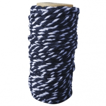 Card Deco Essentials - Bakers Twine blue/white  (PAKKETPOST)