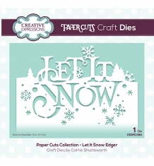 CEDPC1084 - Die - Let It Snow Edger