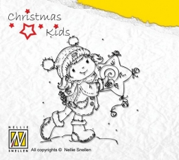 CK001 Clear Stamp Christmas Kids you like my star