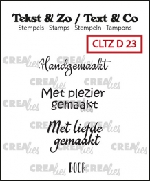 CLTZD23 Clearstamp Tekst & Zo Divers 23 (NL)
