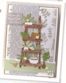 MRT2019 ! CR1464 Craftables stencil Marleen's greenery