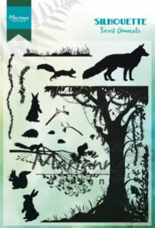 CS1021 Clear Stamp forest animals