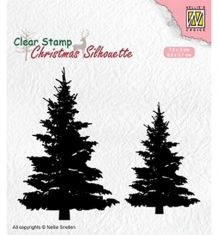 CSIL009 - Nellie`s Choice Silhouette Clear Stamps - Fir-trees