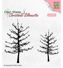 CSIL010 - Nellie`s Choice Silhouette Clear Stamps - Leafless trees