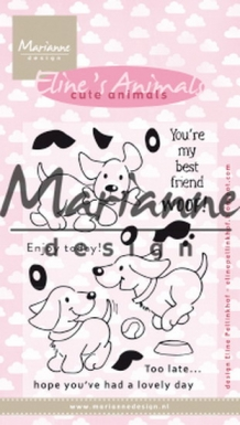 APRIL2019 ! EC0177 Clear Stamp Eline's cute puppies