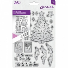 Gemini Acryl clear stempel - Kerstboom Accessoires