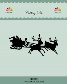 MD0157 - Dixi mal Santa Claus in Sleigh