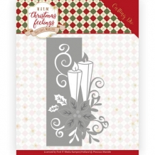 PM10159 Die - PM - Warm Christmas Feelings - Candle Edge