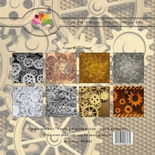 Dixi Paper Pack 15x15 cm Gears background