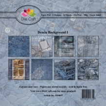 PP0097 Dixi Paper Pack 15x15 cm denim background 1