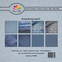 PP0098 Dixi Paper Pack 15x15 cm denim background II