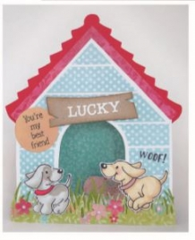 APRIL2019 ! PS8030 Craft stencil doghouse