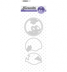 STENCILSL146 - Cutting and Embossing Die Layered, Favourites nr.146