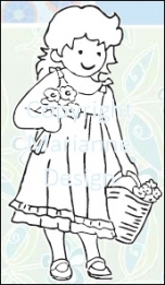 TC0820 Tiny's Clear Stamp Flowergirl